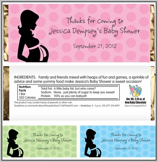 Baby Shower Candy Bar Wrapper Template