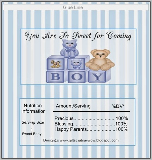 Baby Shower Chocolate Bar Wrapper Template
