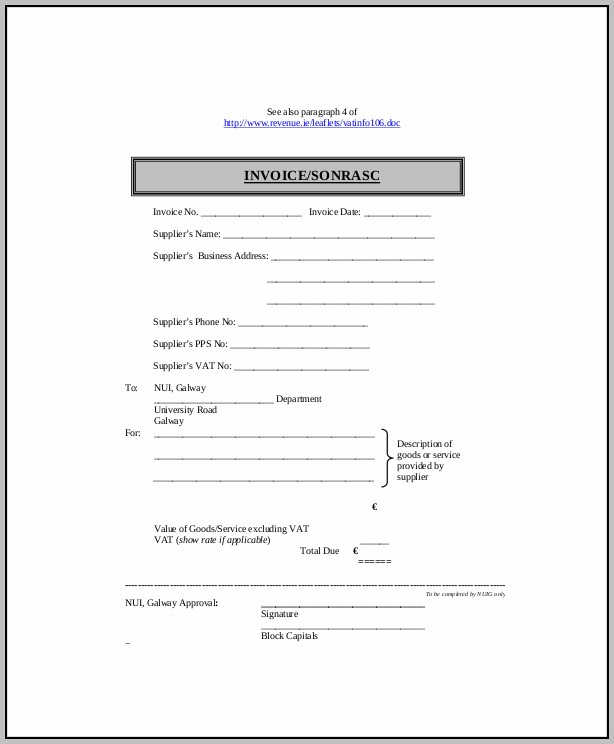 Billing Invoice Template Word