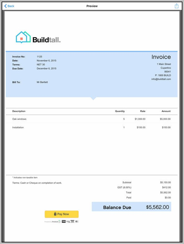Business Invoice App