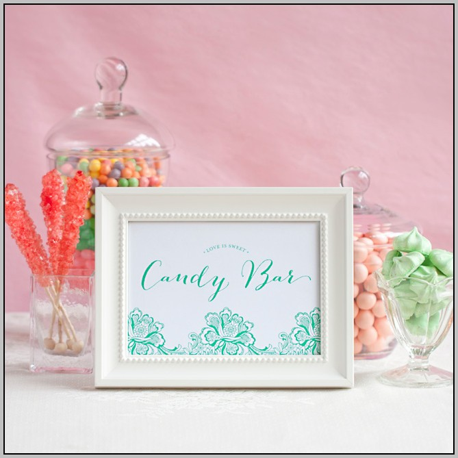 Candy Bar Free Printables