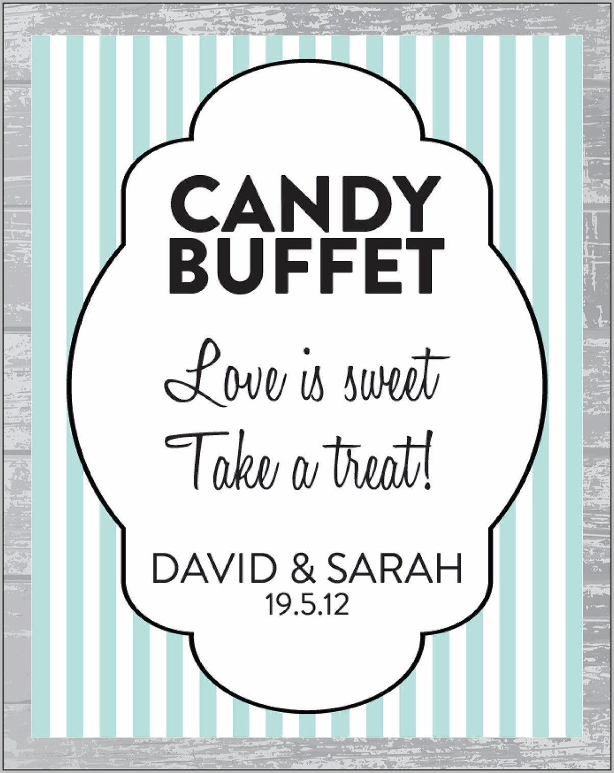 Candy Bar Signs Templates