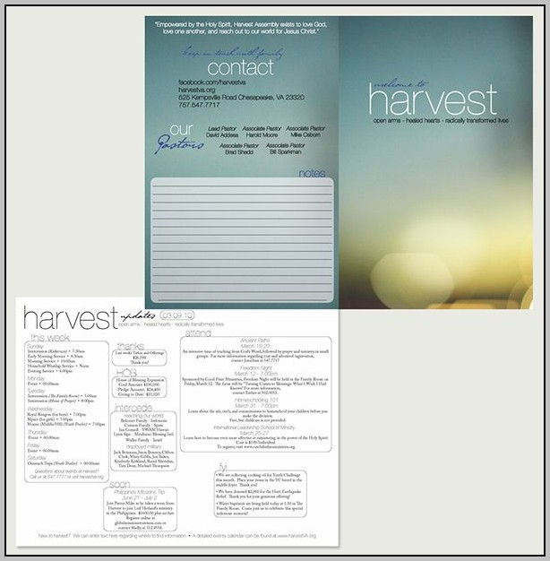 Church Bulletin Design