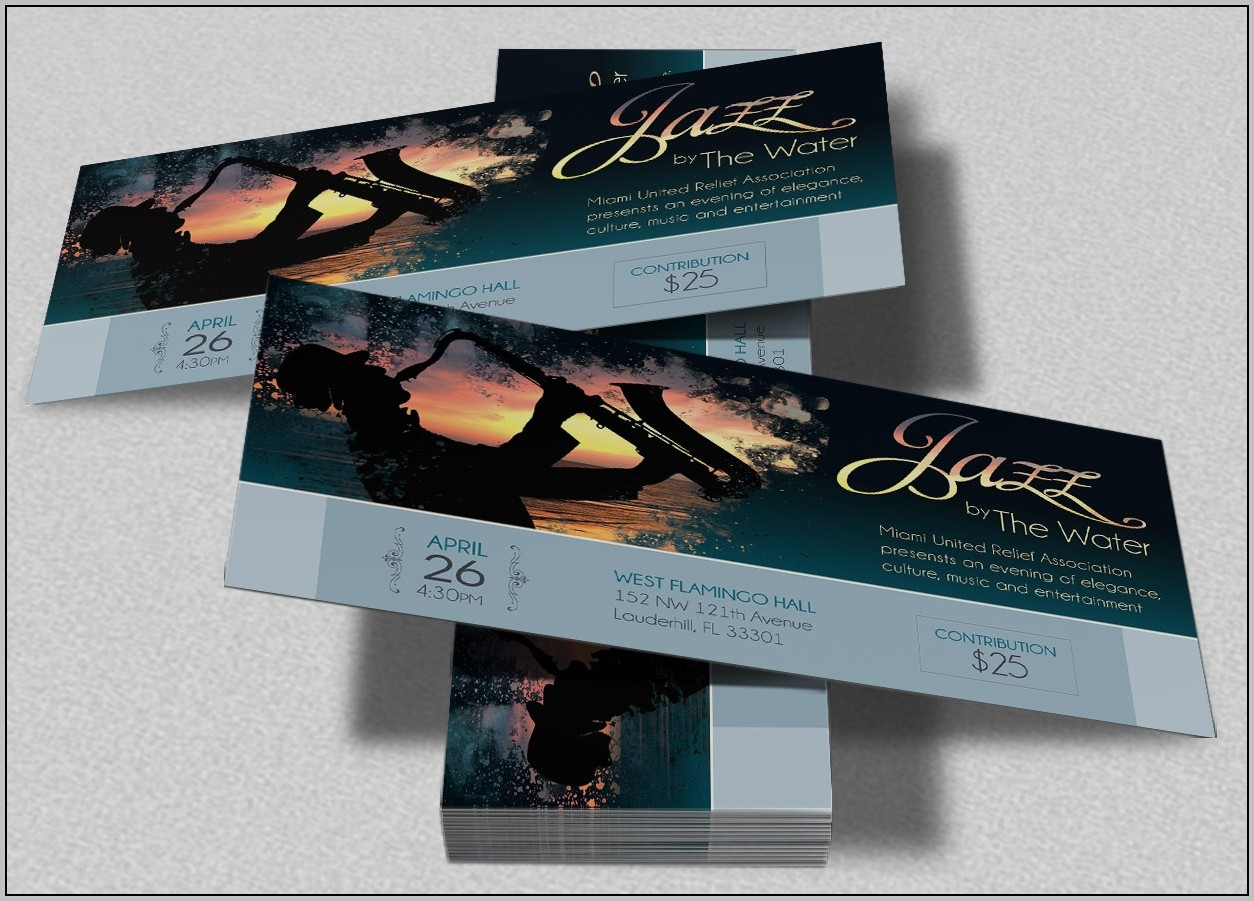 Concert Ticket Design Template Free