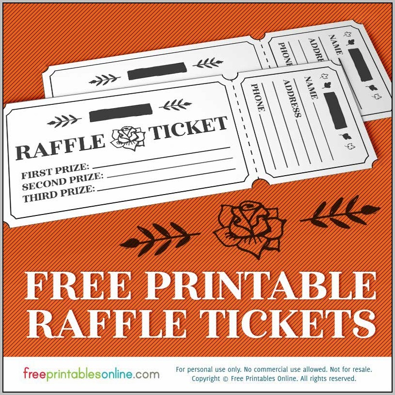 Create Raffle Tickets Online Free