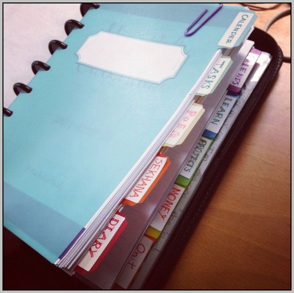 A5 Filofax Staples