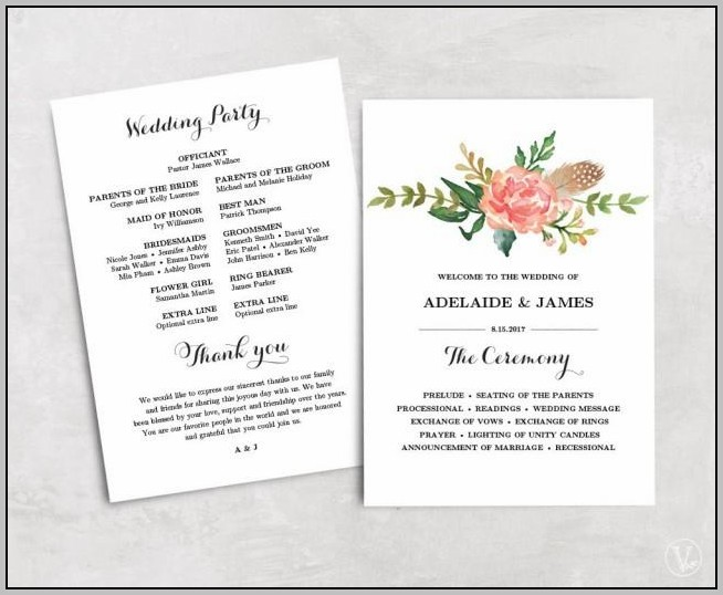 Affordable Wedding Programs