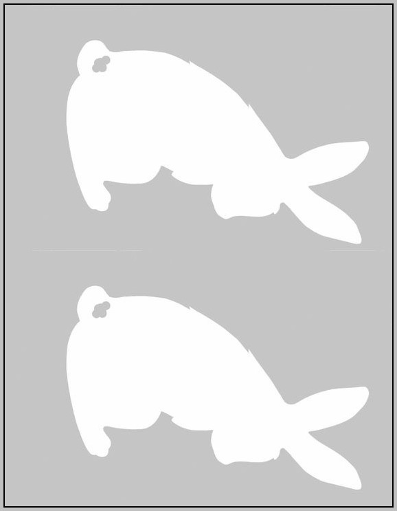 Aster Bunny Tail Template