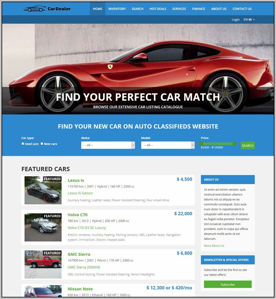 Auto Dealer Website Design