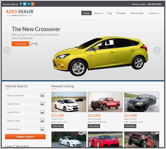 Auto Dealer Wordpress Theme