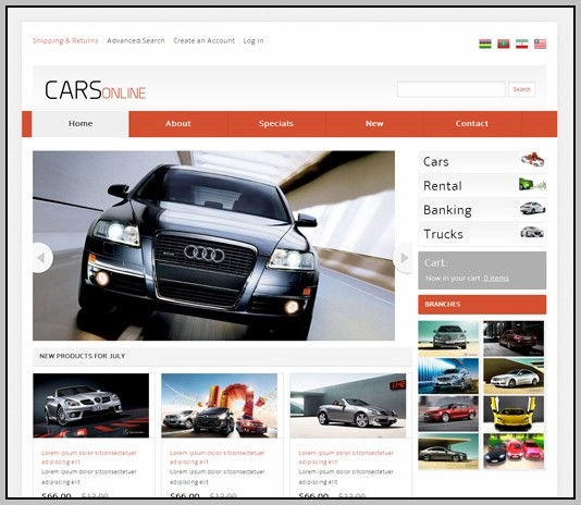 Auto Parts Website Templates Free Download