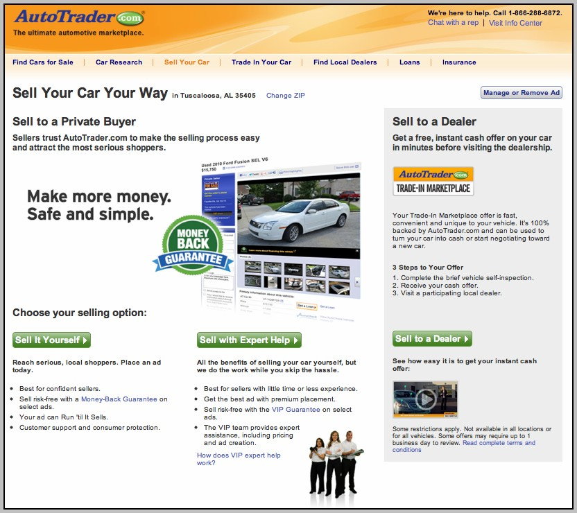 Auto Selling Sites