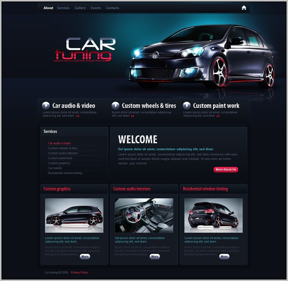 Auto Website Design
