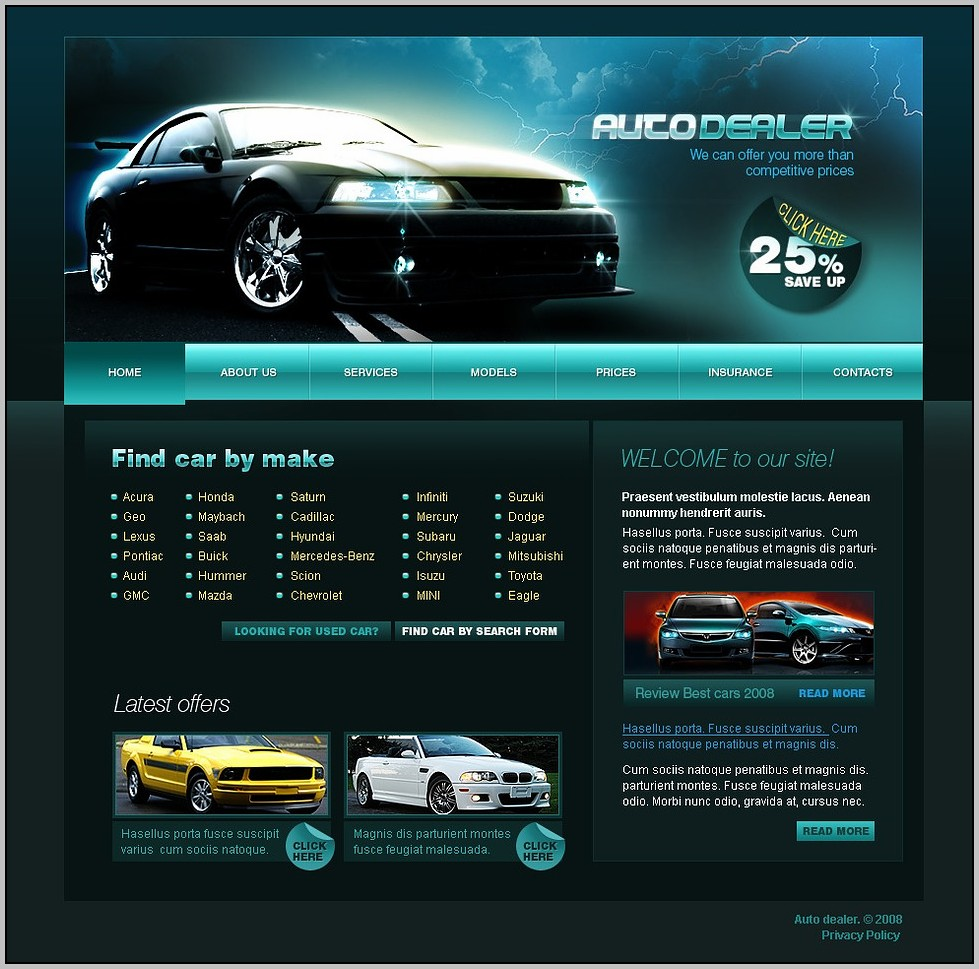 Automotive Dealer Website Design