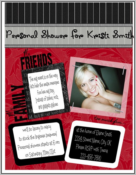 Bachelorette Shower Invitations