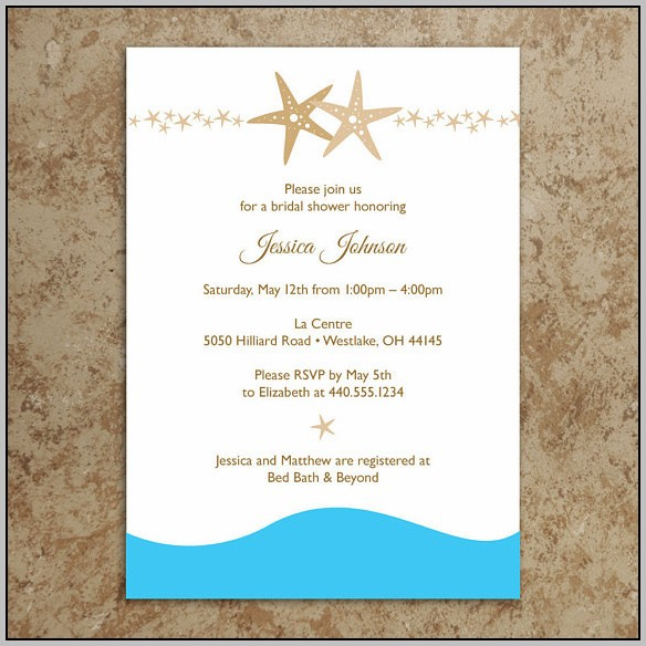 Beach Bridal Shower Invitations