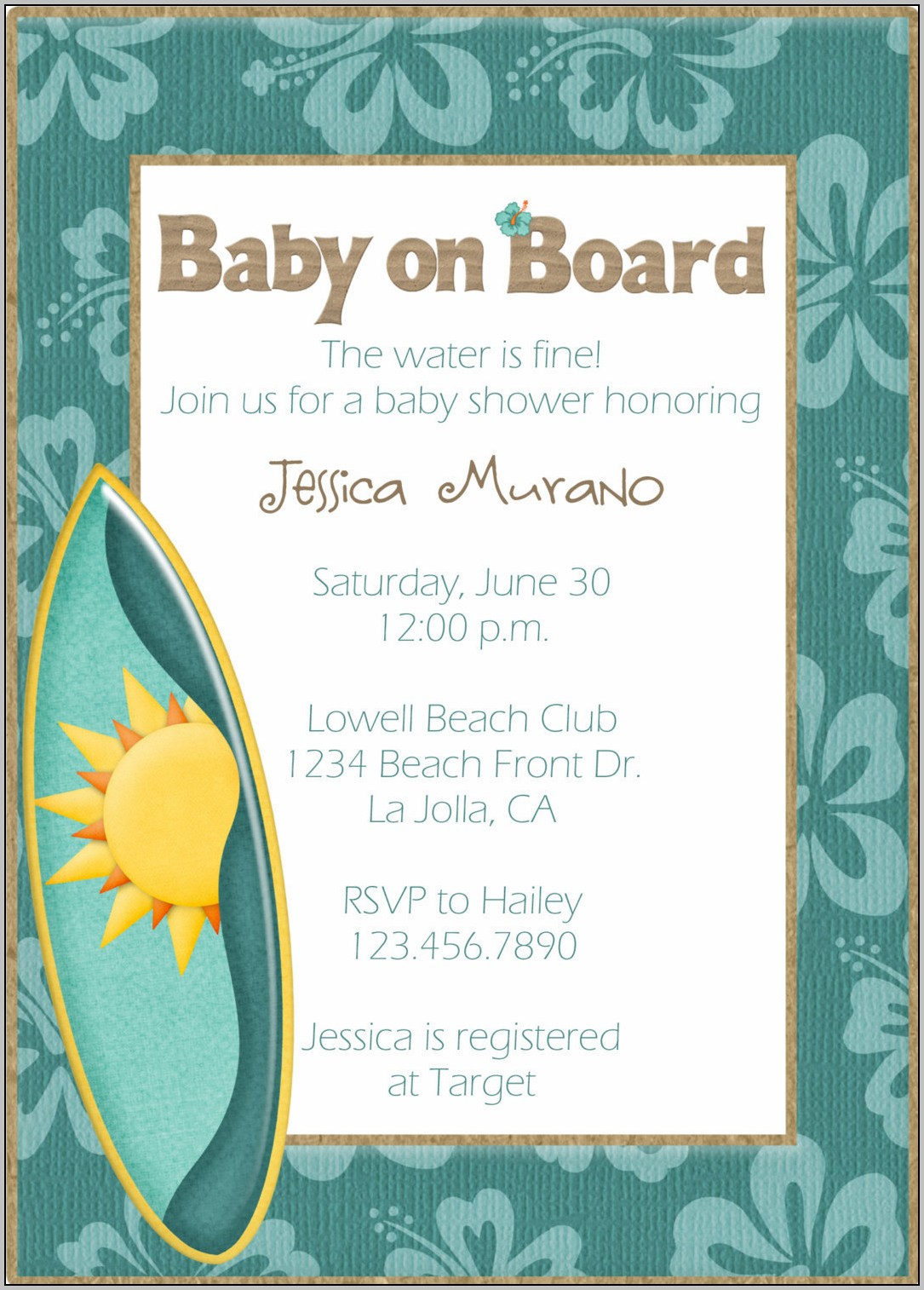 Beach Shower Invitations