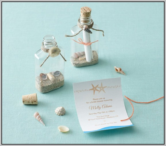 Beach Themed Wedding Shower Invitations