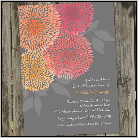 Beautiful Bridal Shower Invitations