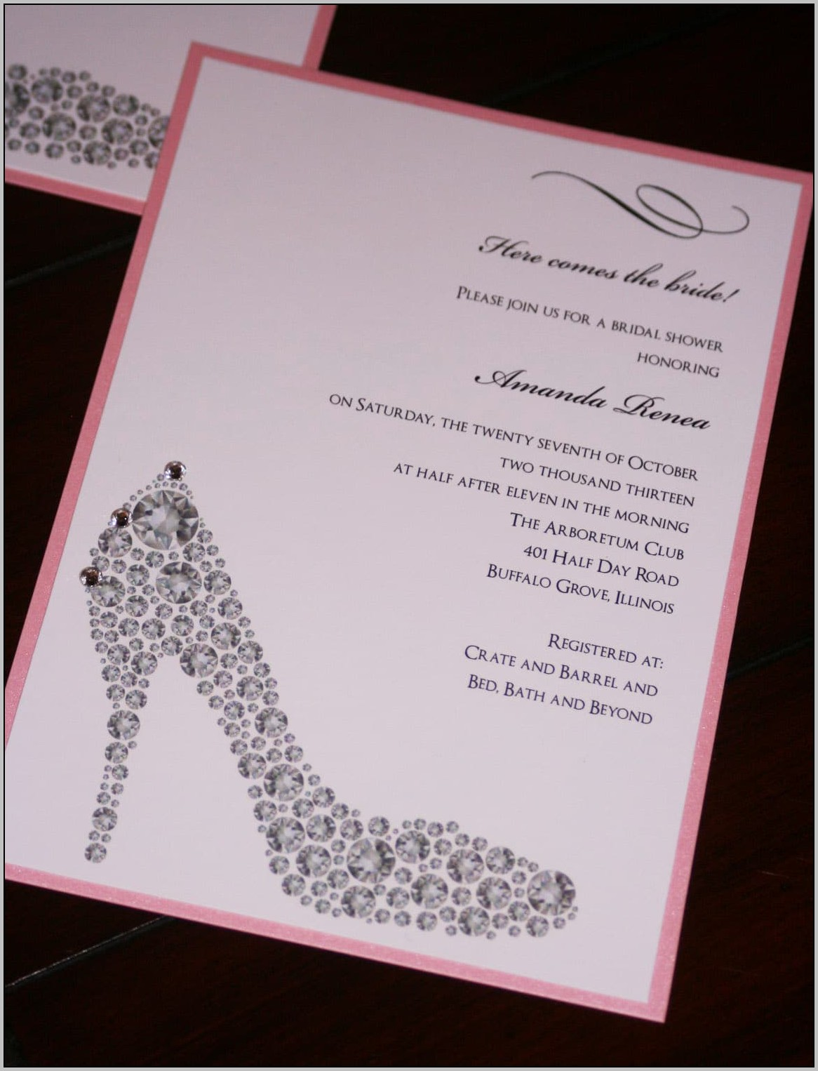 Beautiful Wedding Shower Invitations