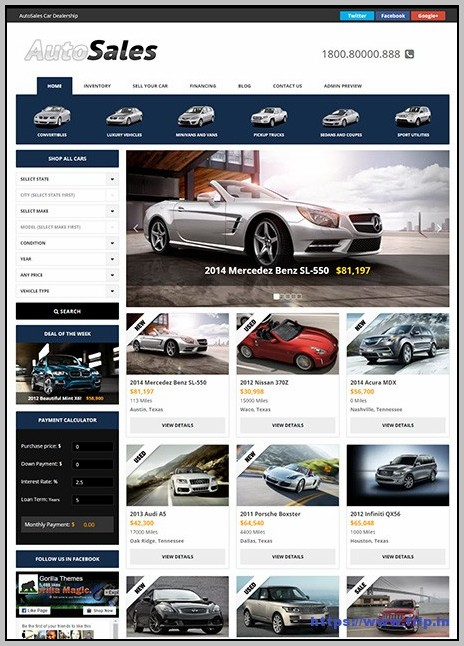 Best Car Dealer Wordpress Theme