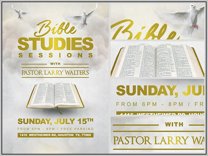 Bible Study Flyer Templates Free