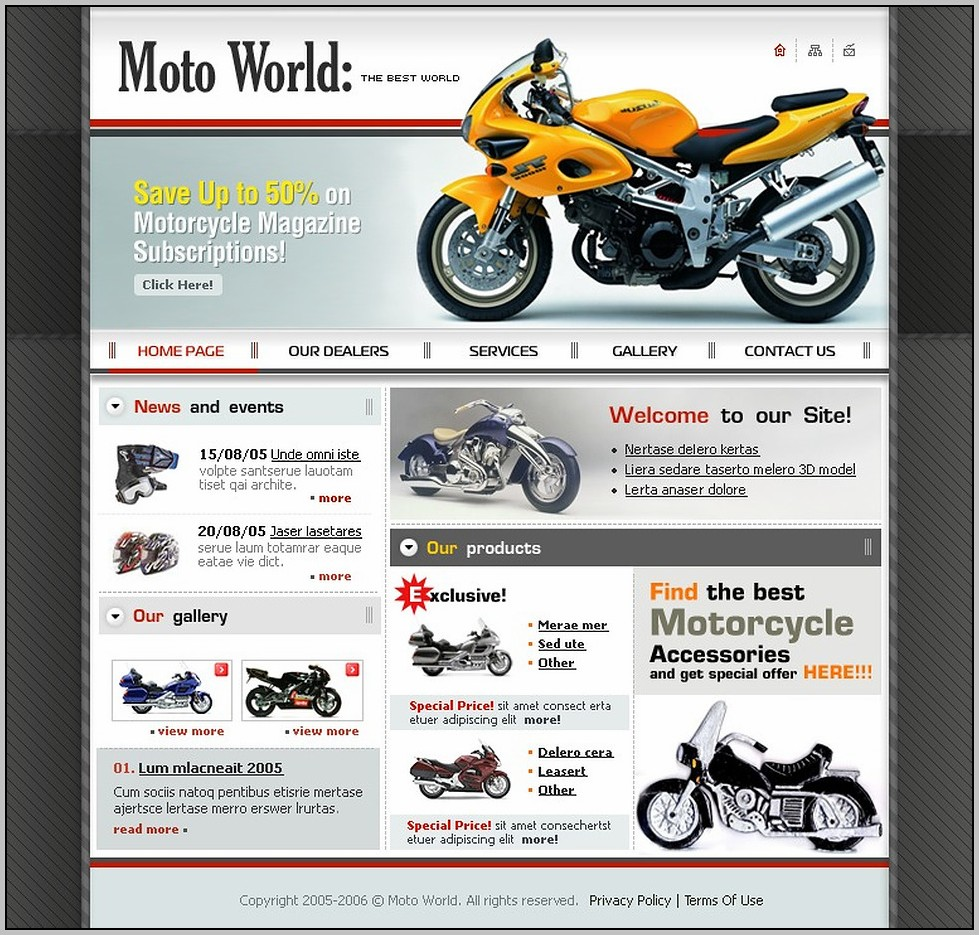 Bike Showroom Website Template