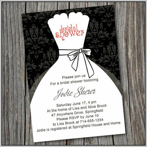 Black And White Bridal Shower Invitation Templates