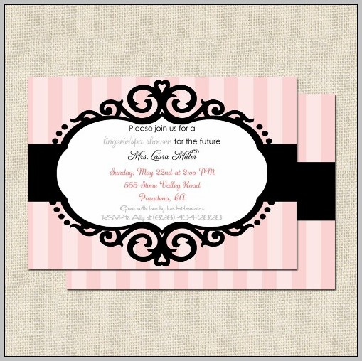 Black Bridal Shower Invitations
