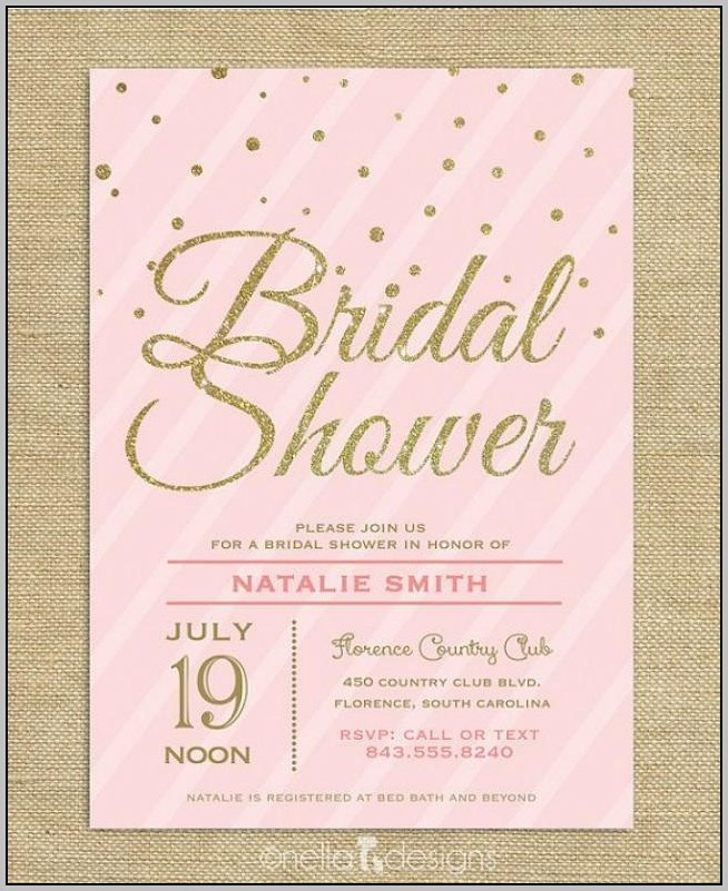 Blush Pink Bridal Shower Invitations