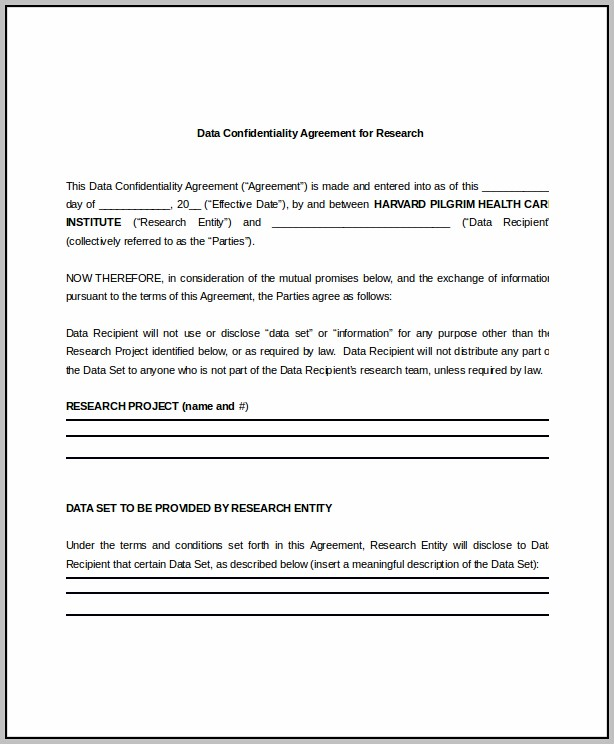 Bookkeeper Confidentiality Agreement