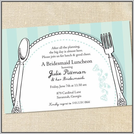 Bridal Luncheon Invitations Templates