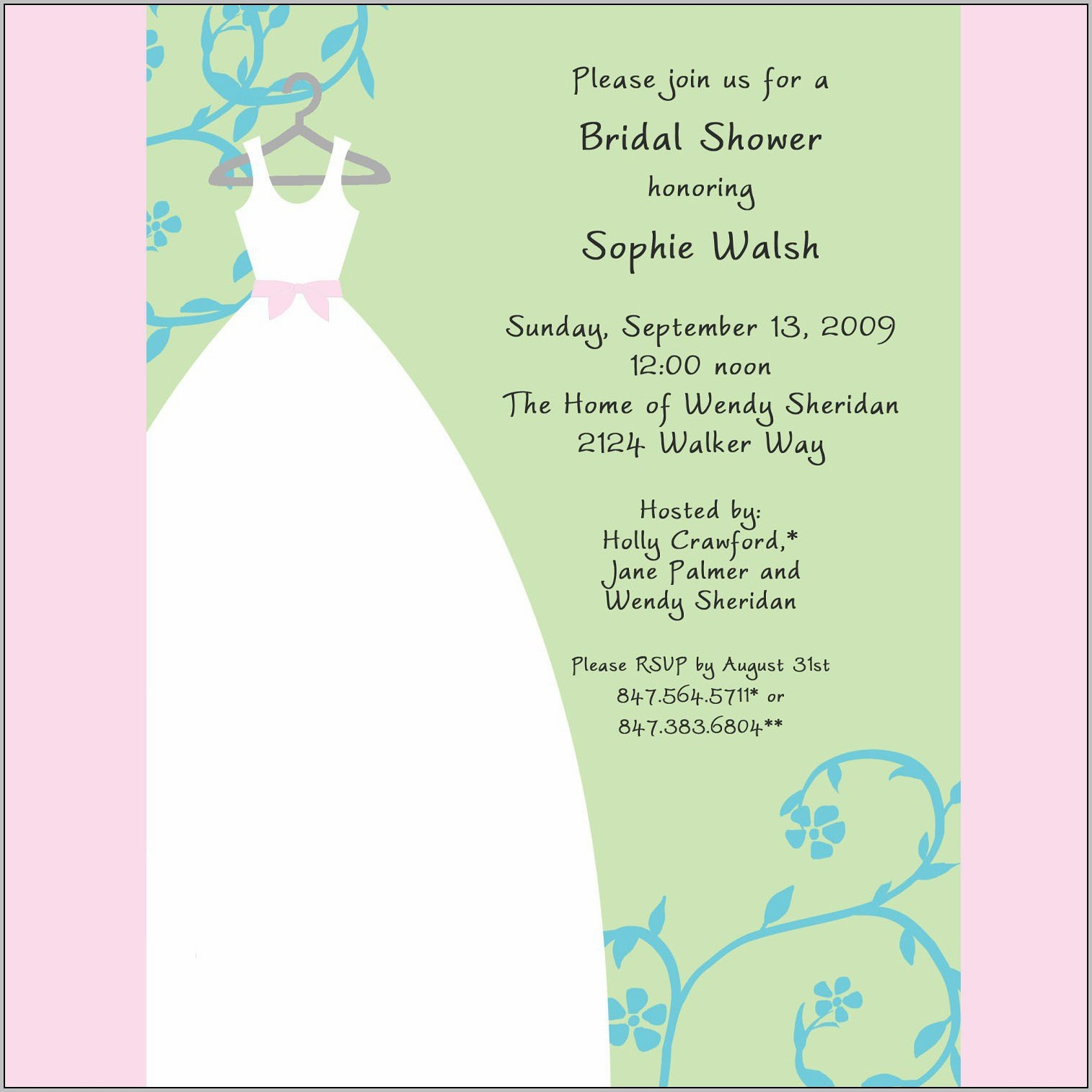 Bridal Party Invitation Cards