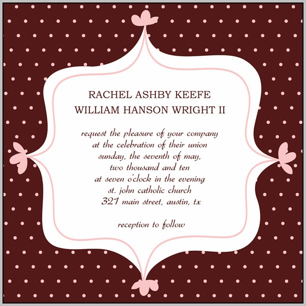 Bridal Party Invitations Templates