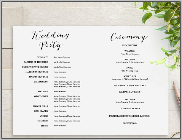 Bridal Programs Templates