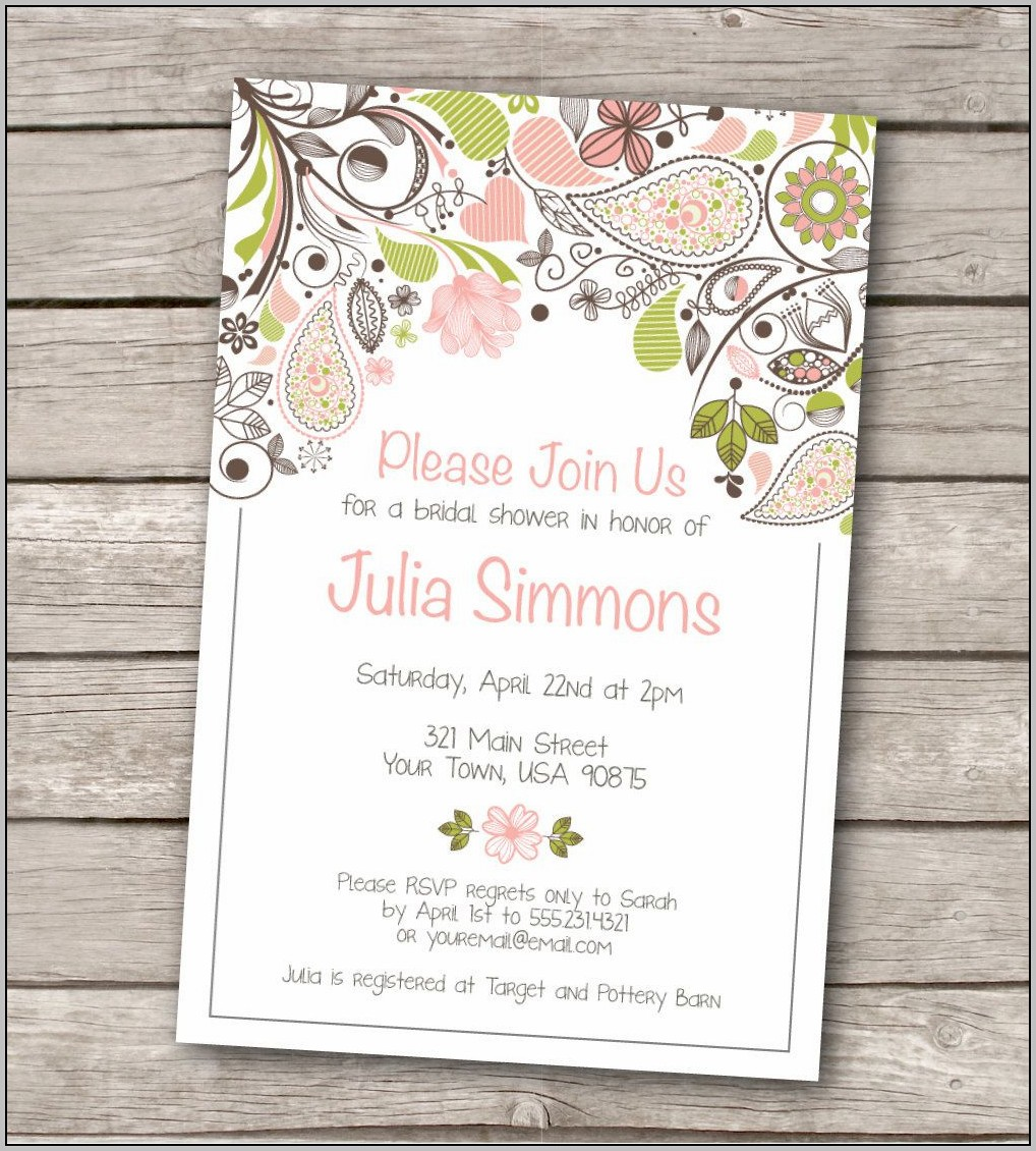 Bridal Shower Announcement Template