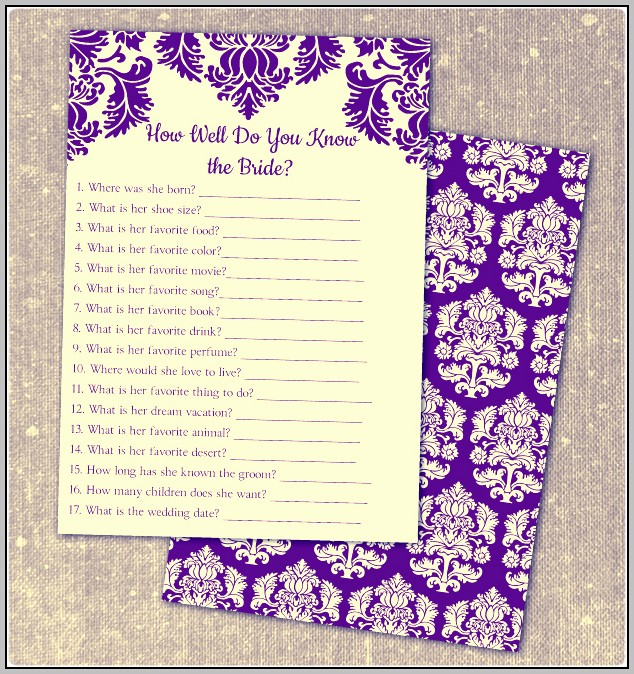 Bridal Shower Cards Free