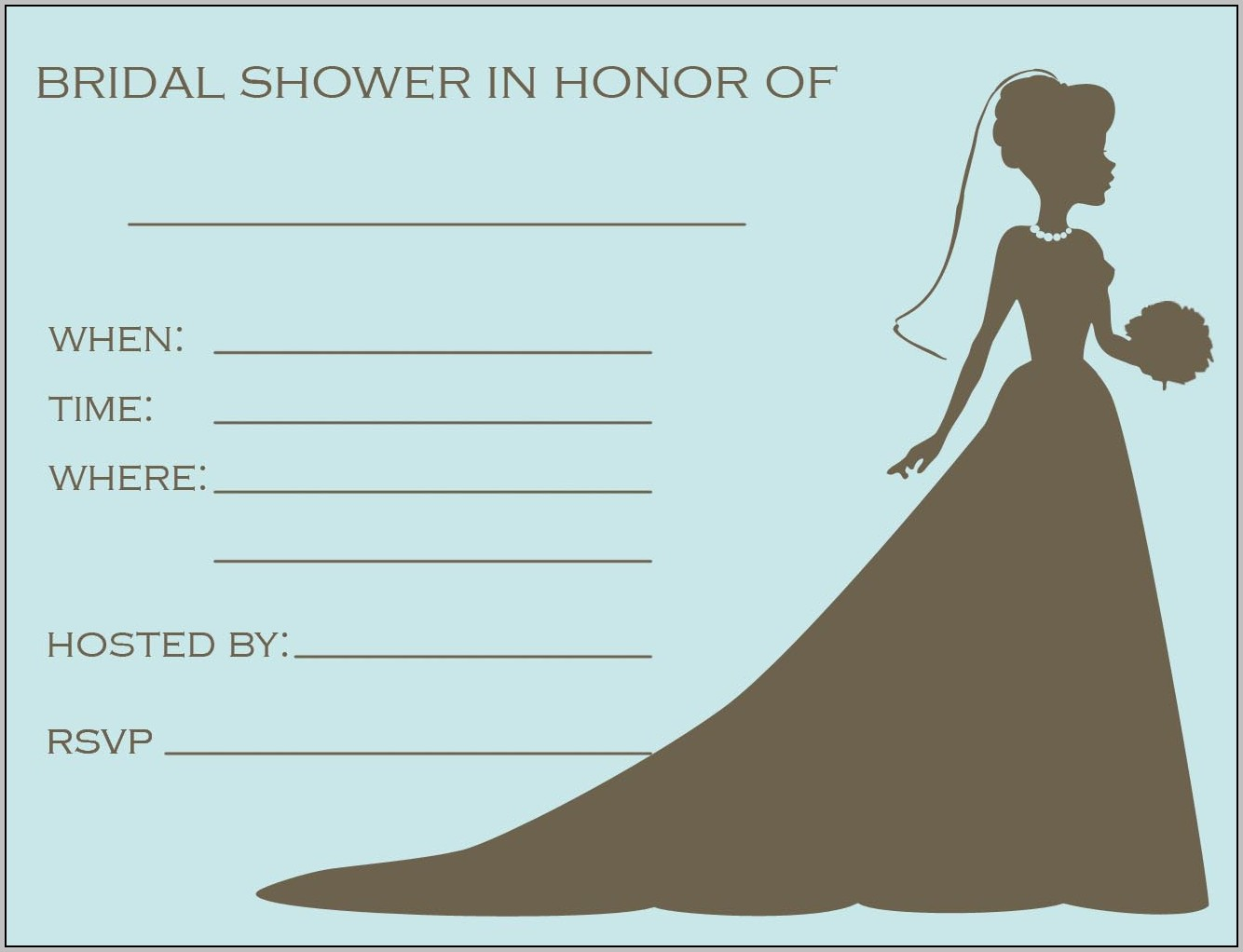 Bridal Shower Flyer Template Free