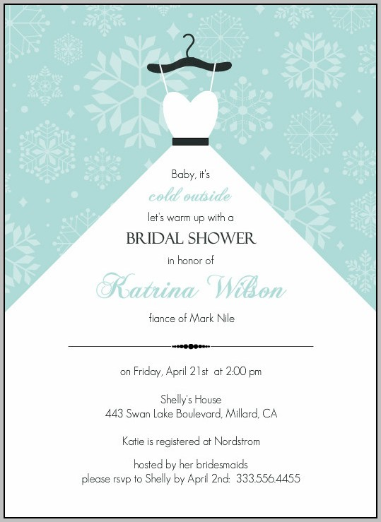 Bridal Shower Flyer Template