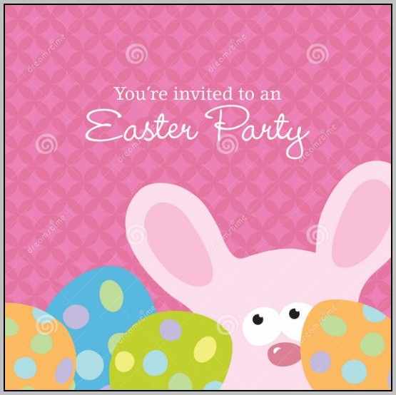 Bunny Invitation Template