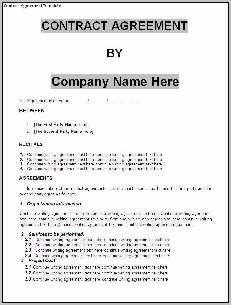 Business Agreement Template