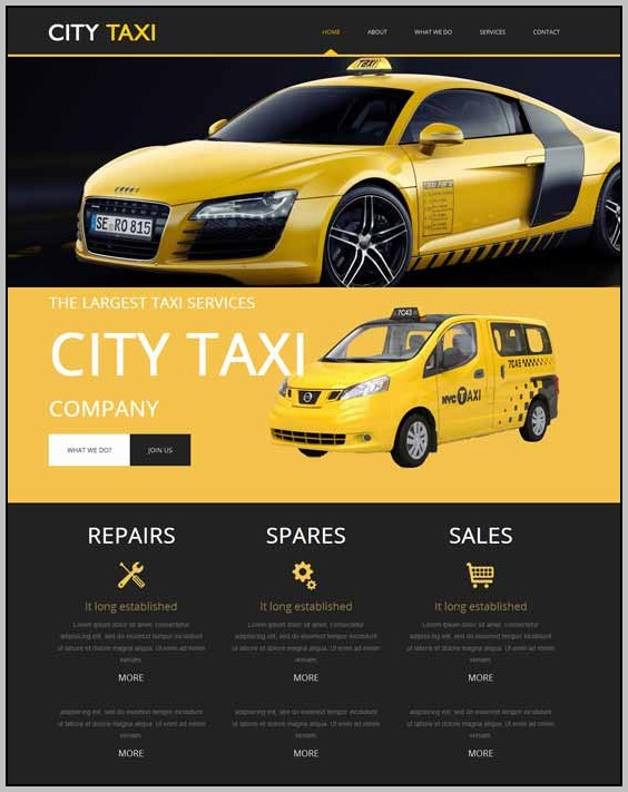 Cab Booking Website Template Free Download