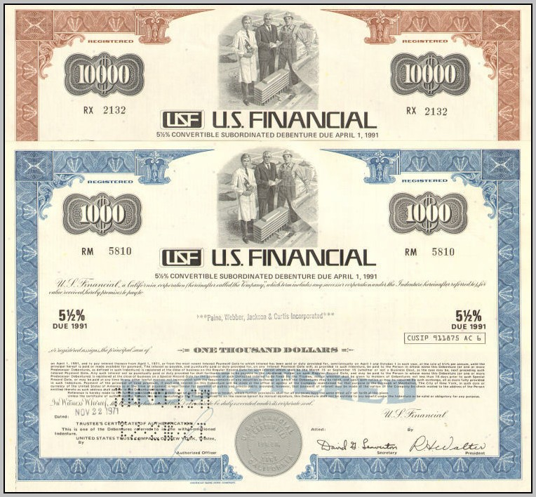California Corporation Stock Certificate