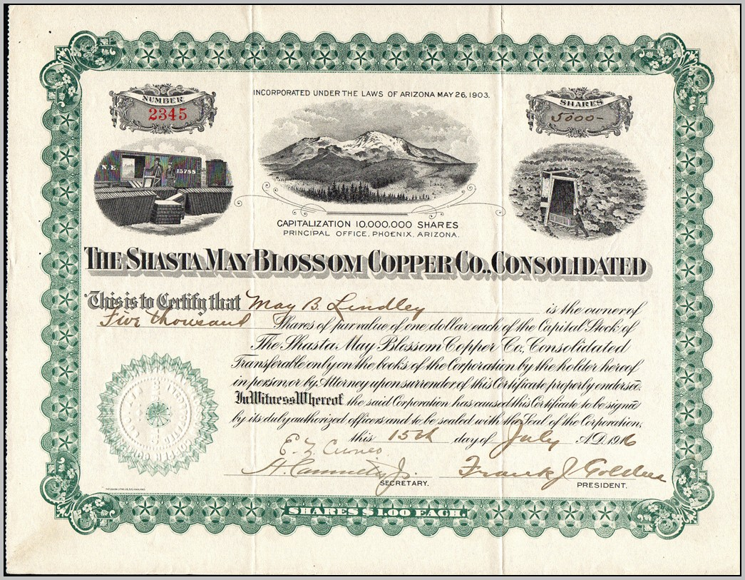 California Stock Certificate