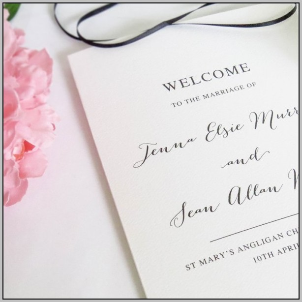 Cardstock For Wedding Programs