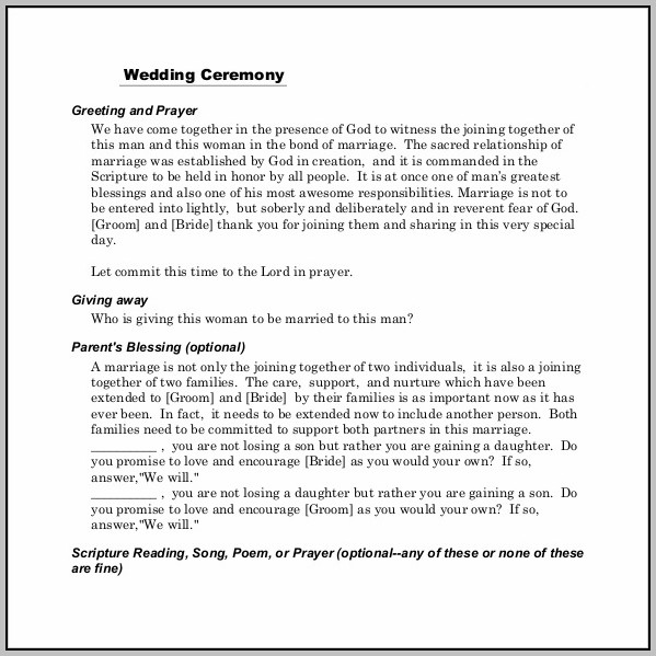 Ceremony Program Template Word