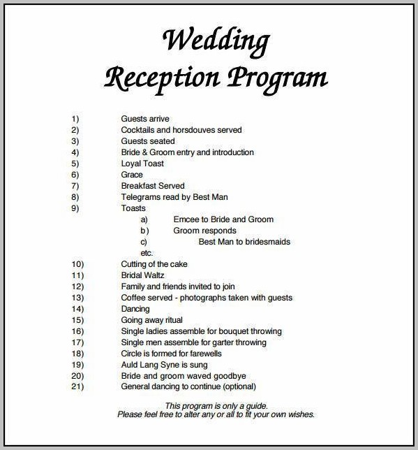 Christian Wedding Program Template