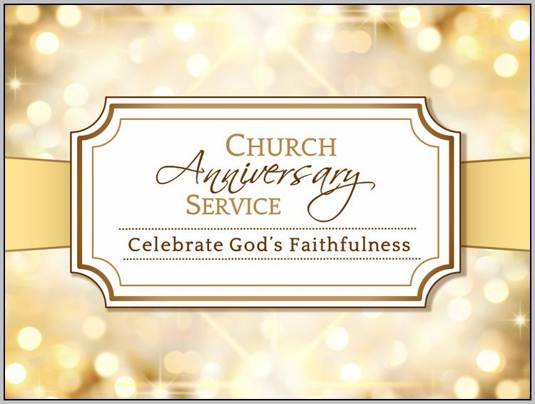 Church Anniversary Programs Designs