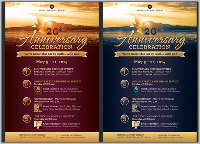 Church Anniversary Templates