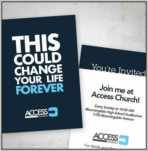 Church Service Invitation Cards